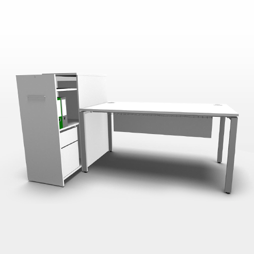 Evolution straight desk with tall boy storage entrawood office furniture manufacturer - Tall office desk ...