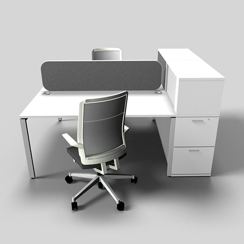 Evolution Dual Desk With Multi Storage Entrawood Office