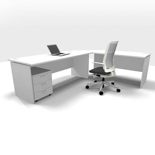 platinum l shape desk set up entrawood office furniture manufacturer