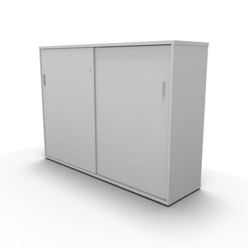 Sliding Door Storage Cabinet Desk Height Entrawood