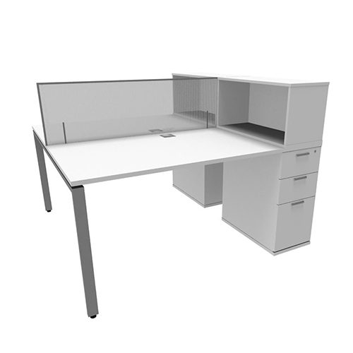 Evolution Slim Line Own Pedestal Desks Entrawood Office