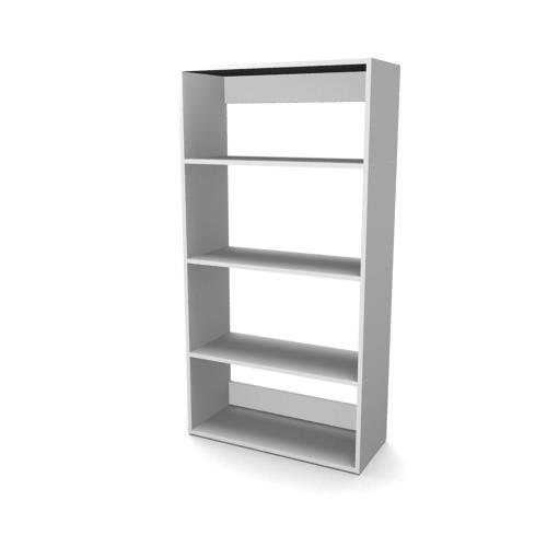 Econo Bookcase 4 Tier Open Back Entrawood Office