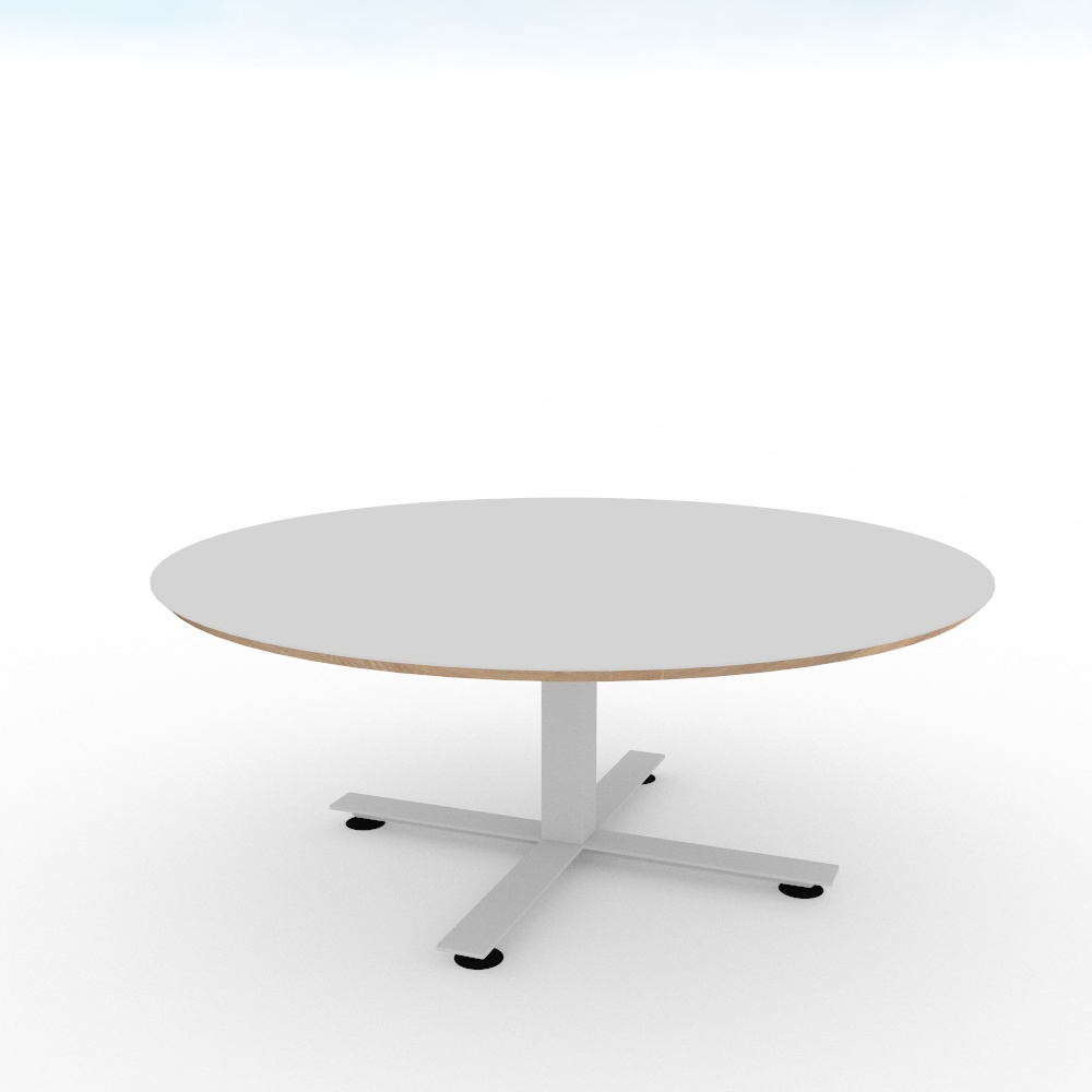 Fluoro Coffee Table Square In Matt White With Black Metal: ENTRAWOOD Office Furniture Manufacturer